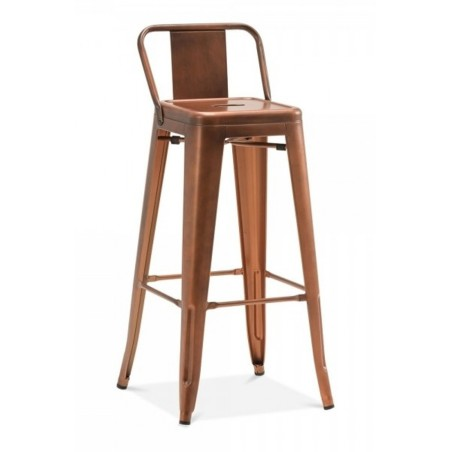 xavier pauchard tolix metal bar stool with back in vintage copper