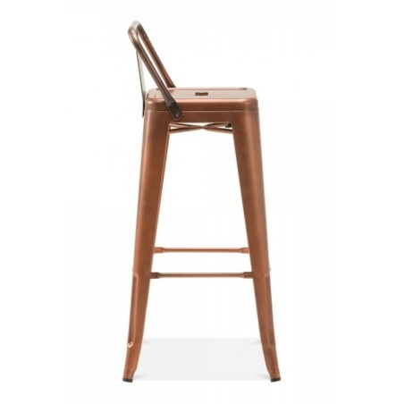 Groovy Tolix Style Metal Bar Stool With Back Caraccident5 Cool Chair Designs And Ideas Caraccident5Info