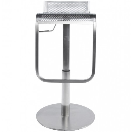 Maglia Pelle Height Adjustable Bar Stool Stainless Steel Seat Front
