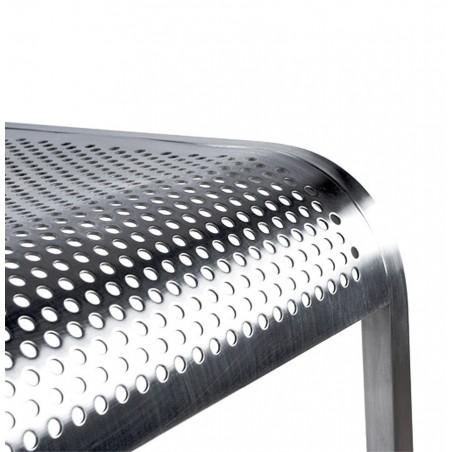 Maglia Pelle Height Adjustable Bar Stool Polished Stainless Steel Seat