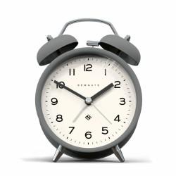 An image of Newgate Charlie Bell Echo Alarm Clock Grey