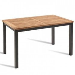 Rectangular garden teak table