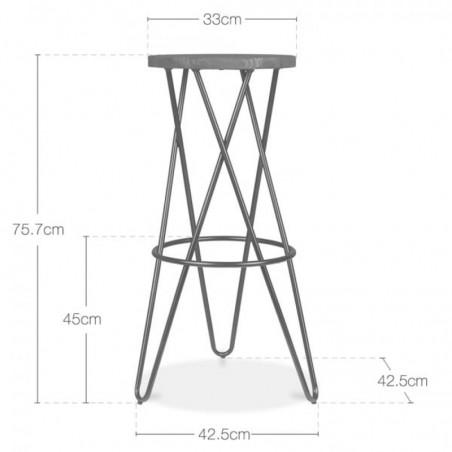 cross loop bar stools dimensions