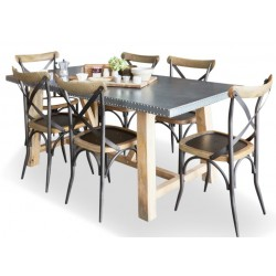 Arezzo large acacia dining table 1 White background