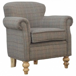 Brampton Tweed Armchair Front angle