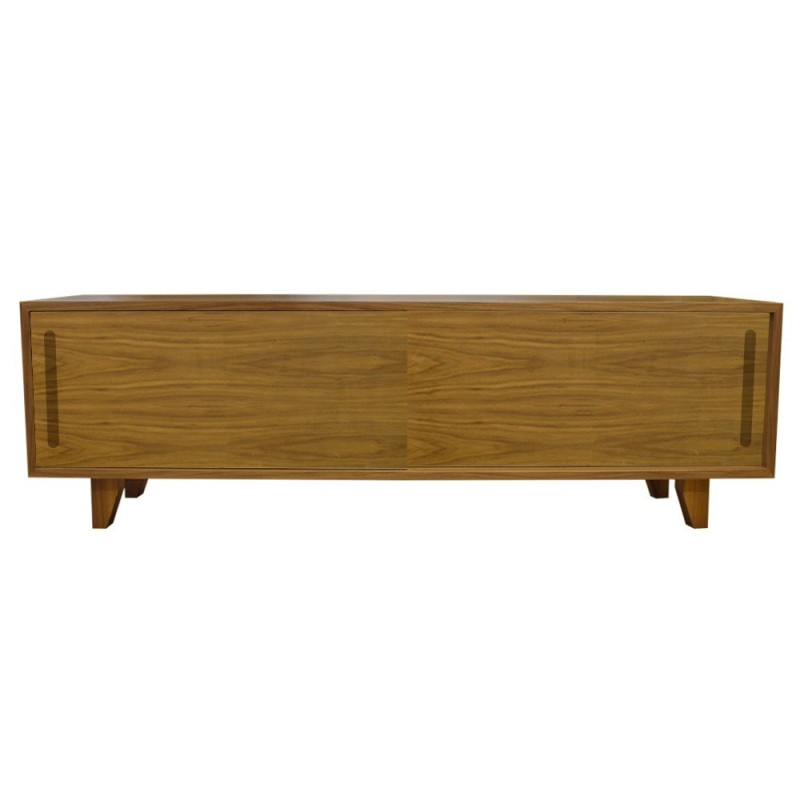 An image of Yorkley Solid Wood Coffee Table / TV Unit - Walnut - Walnut