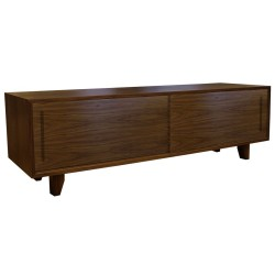 yorkley solid walnut coffee table front angle