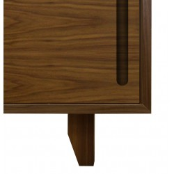 yorkley solid walnut coffee table cupboard closeup