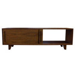 yorkley solid walnut coffee table open right