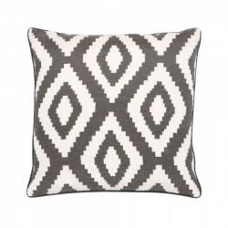 An image of Diamond Pattern Fabric Cushion Grey