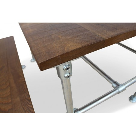 Scaffold Poseur Height Dining Table and Bench Set Scaffold Detail