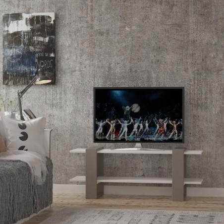 Segur Tv Stand Light Moca and white Mood Shot