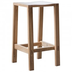 Oak bar stool in natural finish seat