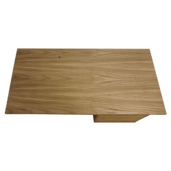 Tuam Workstation Desk - Oak Overhead View