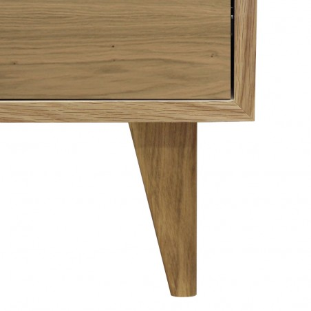 Tuam Workstation Desk - Oak Leg Detail