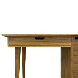 Tuam Workstation Desk - Oak Drawer