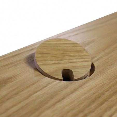Tuam Workstation Desk - Oak Cable management