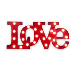Love L.E.D light. White background.