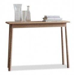 Merl console table. White background.