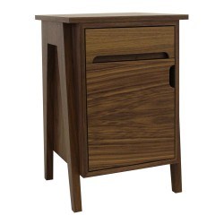 Cullan Walnut SideTable Angled View
