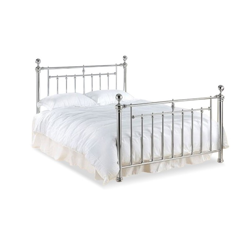 Chrome Metal King Size Bed | Vlore