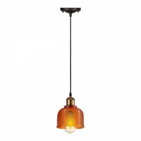 Tulip Glass Pendant Lamp Orange