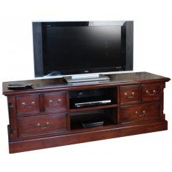 Forenza Large Mahogany 6 Drawer TV Stand