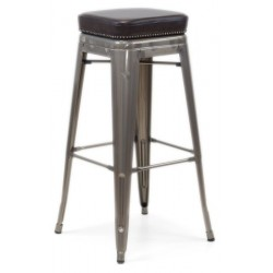 Tolix High Stool with Weld...