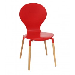 Nevada Dining Chairs Red Front View