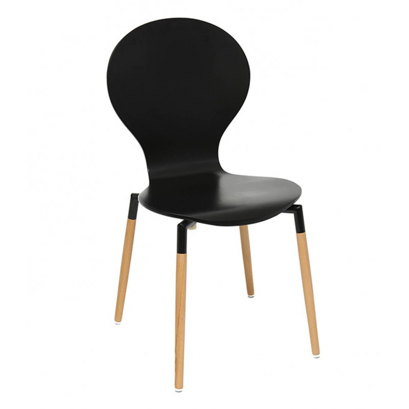 Nevada Dining Chairs Black Front View