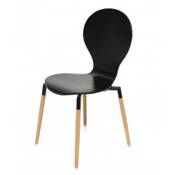 Nevada Dining Chairs Black Side View