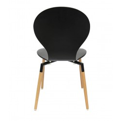 Nevada Dining Chairs Black Back View