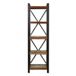 Akola Reclaimed Wood Four Shelf Alcove Bookcase