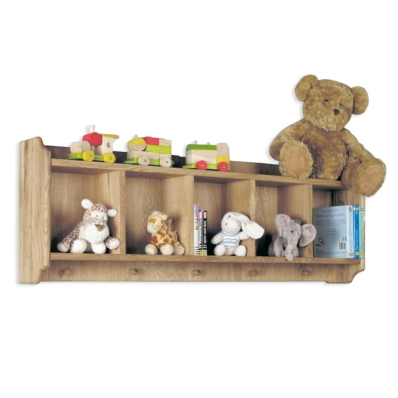 best loved 8303a 67edd Children's Oak Wall Shelf with Peg Rack   Ferrara