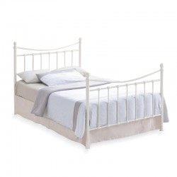 Madley Retro Style Cream King Size Bed
