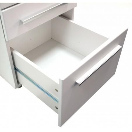 logan glass desk with storage drawers