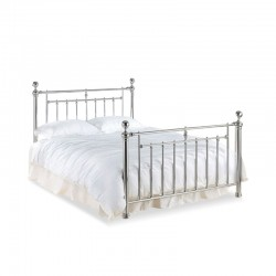 Vlore Chrome Metal Double Bed