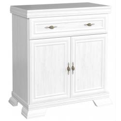 white ash 1 drawer sideboard