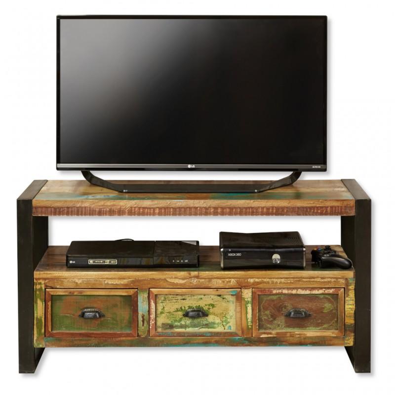 check out a81b1 9ed6a Compact Reclaimed Wood TV Unit | Akola