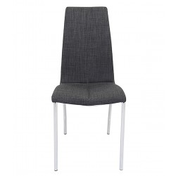 Jatal Charcoal Fabric Dining Chair