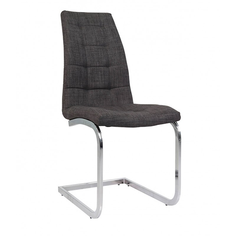 Wubin Fabric Cantilever Dining Chair - Front View