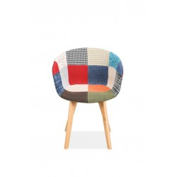 Sven Patchwork Dining Chairs Front View