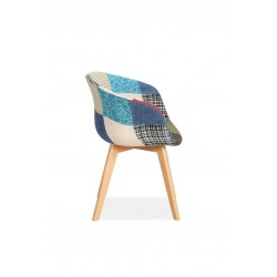 Sven Patchwork Dining Chairs Side View