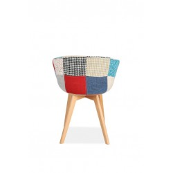 Sven Patchwork Dining Chairs Rear View