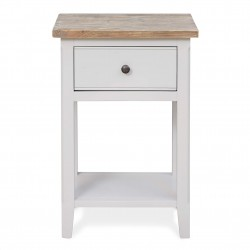 Lugo One Drawer Lamp Table Front View