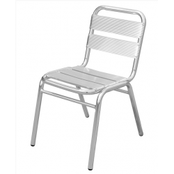 Boston Outdoor Aluminium Stacking Chairs front View