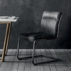 Cantilever dining chair side view