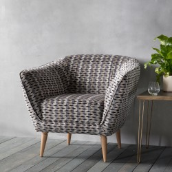 Tub chair in grey front view