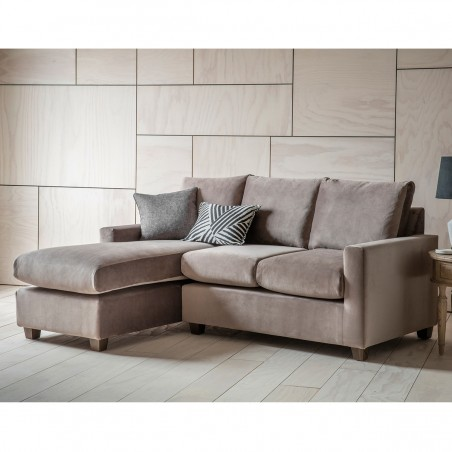 RH chaise sofa in taupe room shot