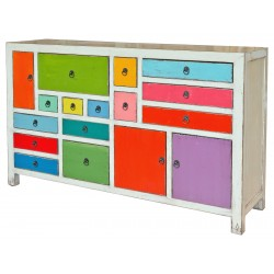 Multicoloured sideboard front view
